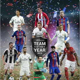 Ronaldo, Messi, Iniesta and others make UEFA team of the Year 2016