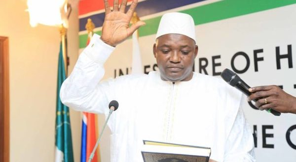 """Gambia: Adama Barrow Takes Oath of Office, Orders Armed Forces to """"remain in the barracks"""""""